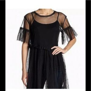 New Abound Sheer Black Dress Sz M